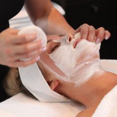 woman having a recharge facial