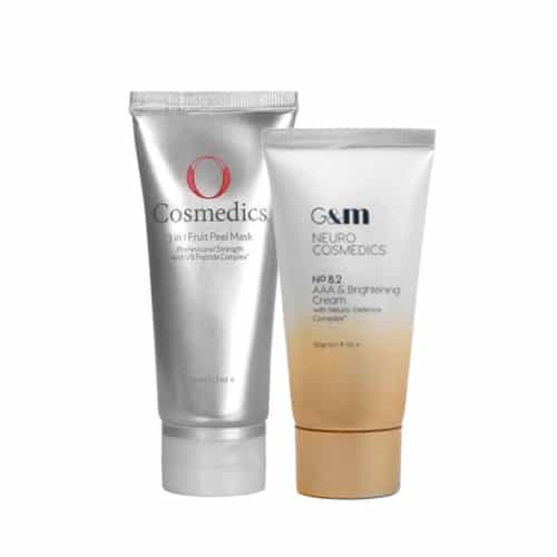 Image of O Cosmedics 3 in 1 Peel, and Ginger&Me AAA & Brighting Cream