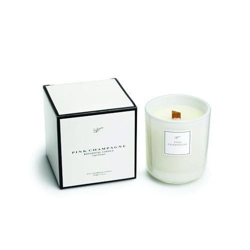 Image of Sohum Classic white pink champagne candle