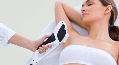 Image of a woman having a hair removal treatment