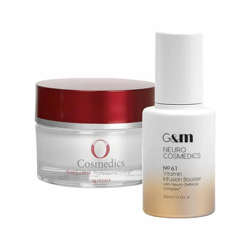 Image of O Cosmedics BHA powder and Ginger&Me Vitamin Infusion Booster