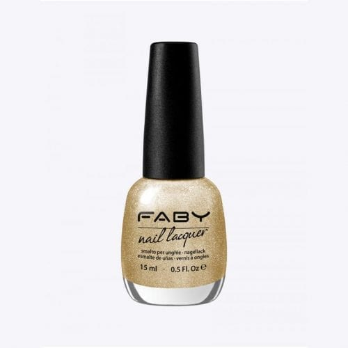 Image of a gold glitter nail lacquer