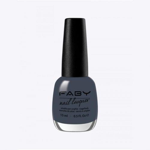 Image of a dark grey blue nail lacquer