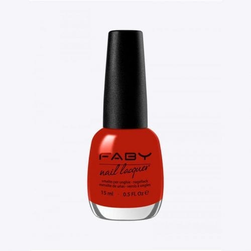 Image of a bright red nail lacquer
