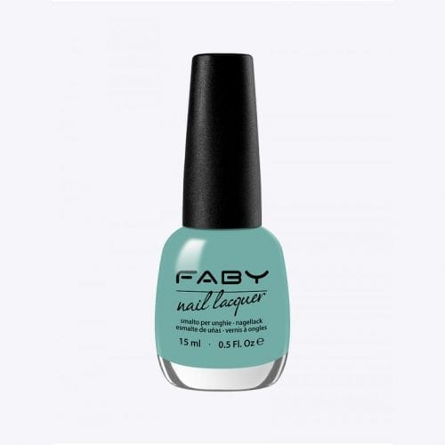 Image of a bright turquoise nail lacquer