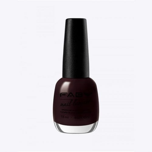 Image of a very dark purple nail lacquer