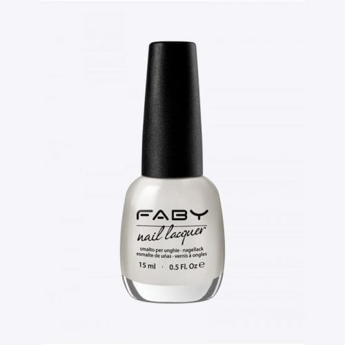 Image of a white shimmer nail lacquer