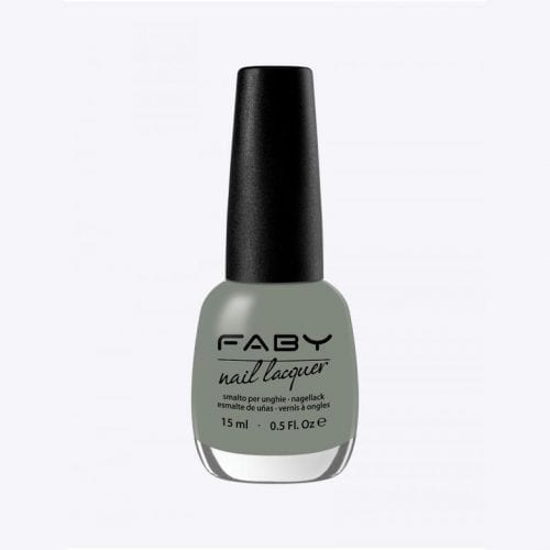 Image of a grey green nail lacquer with a matte finish
