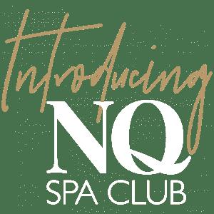 NQ Spa Club Logo - White