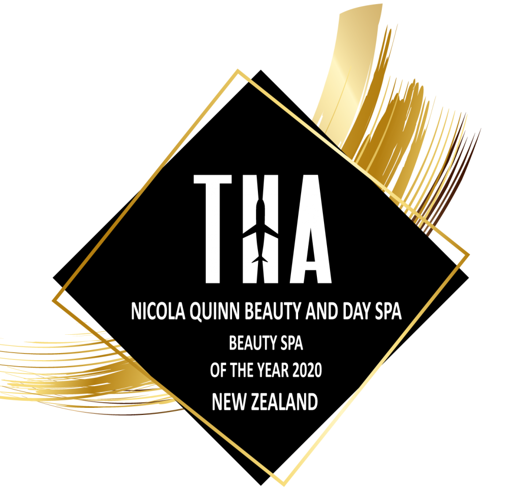 Nicola Quinn winner of the THA beauty awards