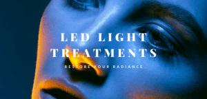 Header image of model in LED light photography