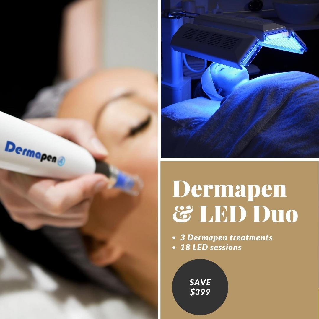 Dermapen and LED offer