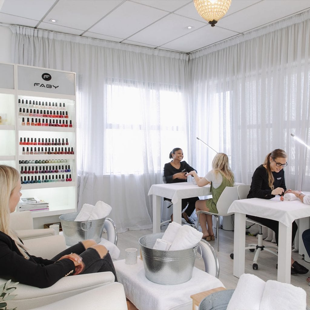Women having manicures in pedicares at Nicola Quinn Beauty & Day Spa