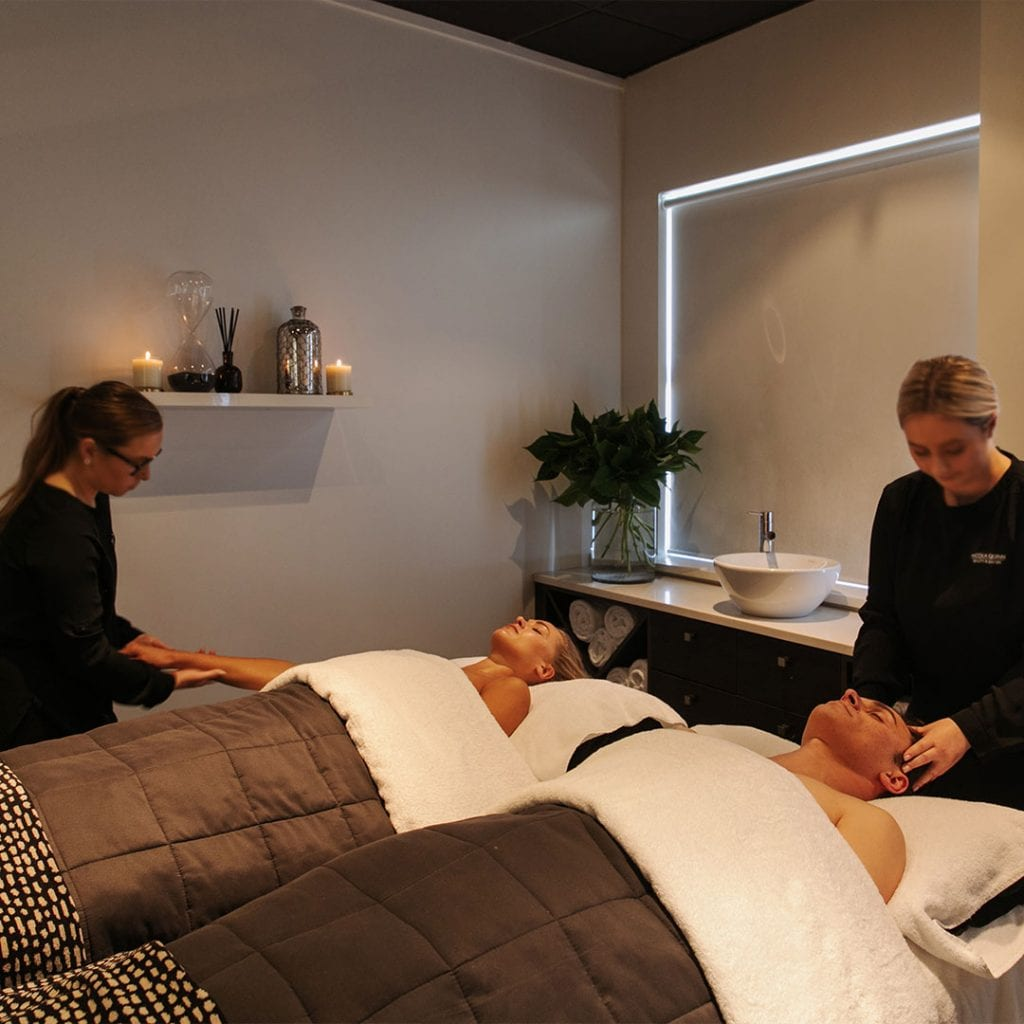Couple having a relaxing massage at Nicola Quinn Beauty & Day Spa
