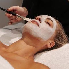 woman having a facial in christchurch nz