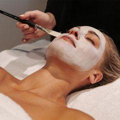 woman having a radiance facial